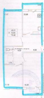 <div>Квартира 3-комн., 79м<sup>2</sup></div><div><b>Соловьиная ул, 2</b></div><div>2 450 000 руб.</div>